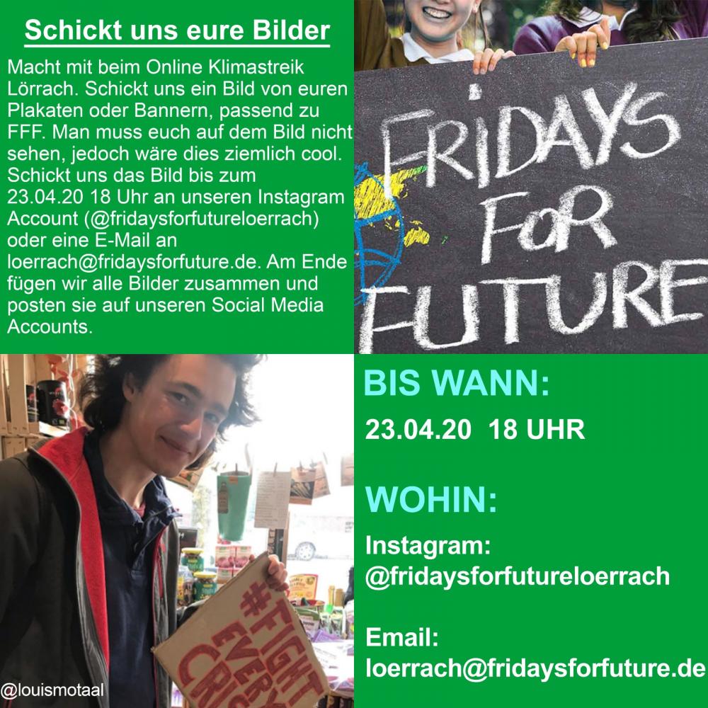 Klimastreik am 24. April 2020 als Klimastreik im Netz