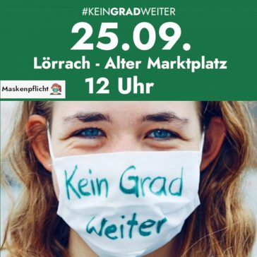 Globaler Klimastreik am 25.09.2020 in Lörrach