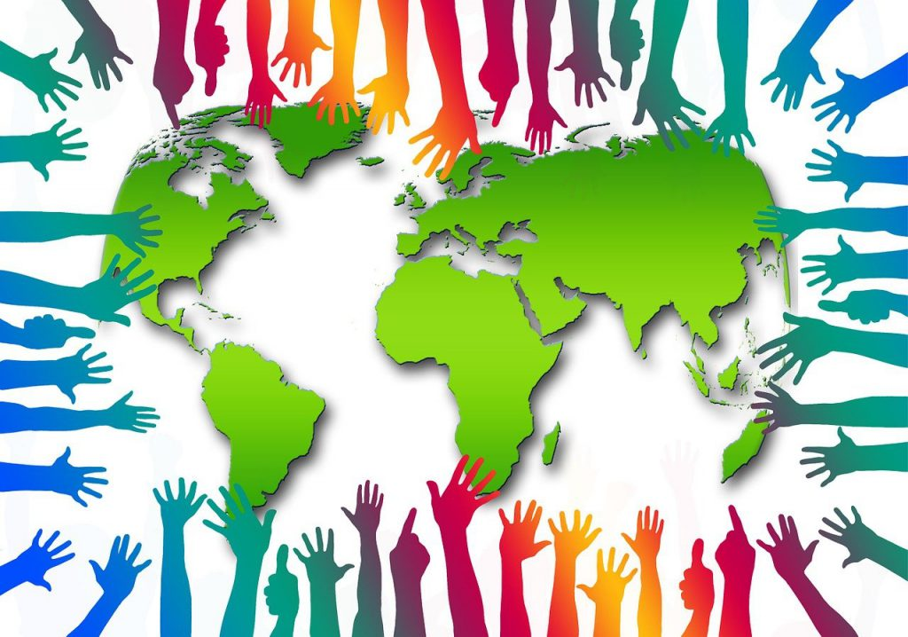 access,many,hands,continents,globe,international,earth,together,community,colorful,multicolored